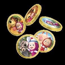 Монеты шоколадные Маша и Медведь 6гр 6,00₽ шт